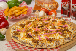 PACOMPARTIR Pizza de Cochinita + Lasagna Bolognesa
