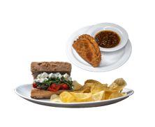 Sándwich Veggie + Empanada ¡Gratis!