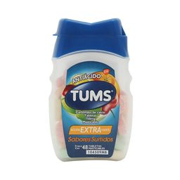 Tums Extra Surtido 48 Tabletas Carbonato de calcio 750 mg