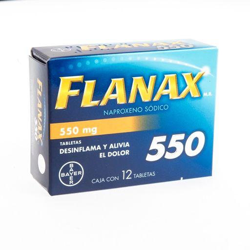 Bayer Flanax 550mg 12 Tableta(s) Caja Naproxeno 550 mg
