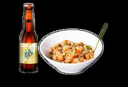 Yakimeshi Mixto + Cerveza