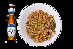 Yakimeshi con Verduras + Cerveza