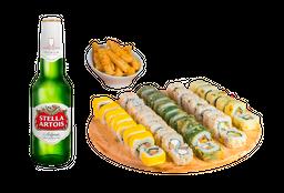 Go Sushi Box + 4 Cervezas