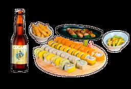 Fuku Sushi Box + 4 Cervezas