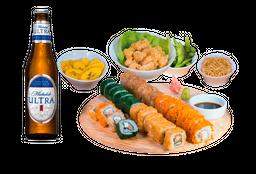 Oishi Oishi Sushi Box + 4 Cervezas