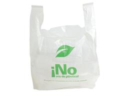Bolsa Camiseta No Soy de Plástico Biodegradable |Caja|