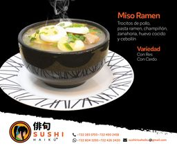 Sopa Miso Ramen Cerdo