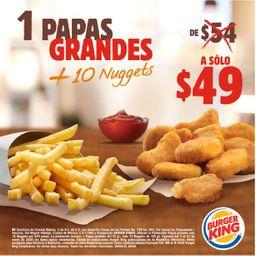 Papas Grandes + 10 Nuggets