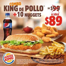 Combo King de Pollo + 10 Nuggets
