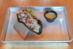 Taco de pulpo oriental