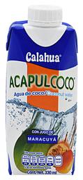 Agua de Coco Acapulcoco Maracuyá 330 mL