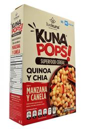 Cereal de Quinoa Kuna Pops Sabor Manzana Canela 225 g