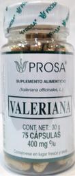 Suplemento Alimenticio Valeriana 75 Cápsulas