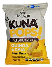 Botana de Quinoa Kuna Pops! y Chía Sabor Queso Blanco 35 g