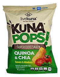 Botana de Quinoa Kuna Pops! y Chía Sabor Tomate y Albahaca 35 g