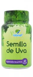Suplemento Alimenticio Vidanat Semilla de Uva 60 Cápsulas