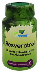 Resveratrol Vidanat/Vitaminas 30 Cápsulas
