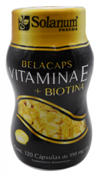 Vitamina E Solanum Pharma Con Biotina 120 Cápsulas