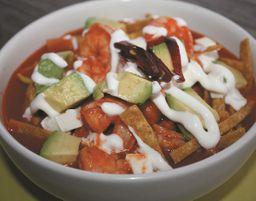 Sopa de Tortilla con Camarón