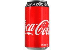Coca Cola sin Azúcar en Lata 355 ml