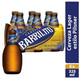 Cerveza Barrilito Clar 6 Pzs Bot 325 mL