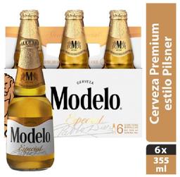 2x1 Cerveza Modelo Esp Clar 6Pzs lata 355mL