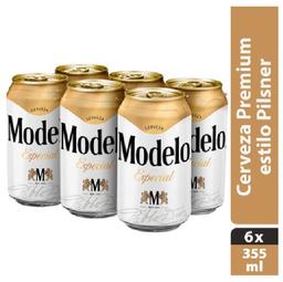 Cerveza Modelo Esp Clar 6Pzs lata 355mL