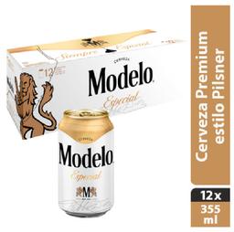 2x1 Cerveza Modelo Esp Clara 12 Pzs 355 mL