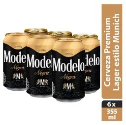 Cerveza Negra Modelo Osc 6 Pzs 355 mL