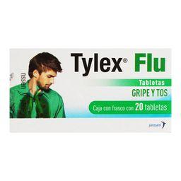 Tylex Flu 20 Tabletas (500 mg/10 mg/2 mg/10 mg)