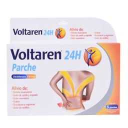 Novartis Voltaren 24Hrs 5 Parches Caja Diclofenaco sódico 30 mg