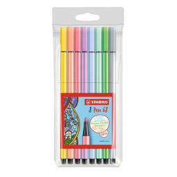 Rotulador Stabilo Pen 68 Colores Pastel 8 U