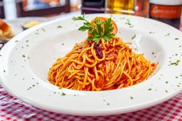 Spaguetti Al Pomodoro con Pollo