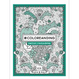 Libro Gaba/Gale Coloreanding Cactus y Suculentas 1 U