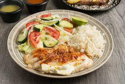 Filete de Pescado Relleno en Salsa de Chipotle y Cítricos