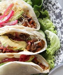 Tacos de Portobello al Ajillo