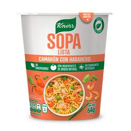 Sopa instántanea Knorr  Camarón con Habanero 64 g