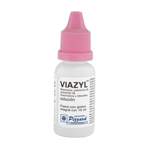 Comprar Viazyl Solución Ótica (3.5mg/10000 U/0.250 Mg/20 Mg/ml)