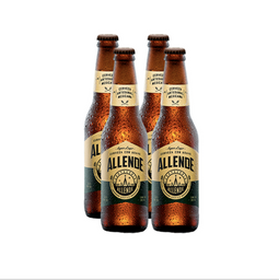 Cerveza Artesanal Allende Agave Lager Botella 355 mL x 4