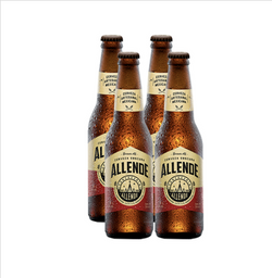 Cerveza Artesanal Allende Brown Ale Botella 355 mL x 4