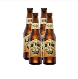 Cerveza Artesanal Allende Golden Ale Botella 355 mL x 4