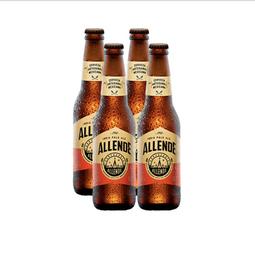 Cerveza Artesanal Allende Indian Pale Ale Botella 355 mL x 4