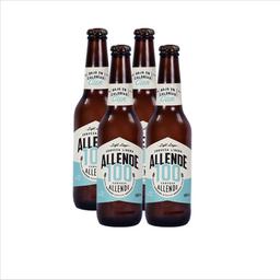 Cerveza Artesanal Allende Lager Light 100 Botella 355 mL x 4