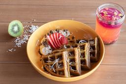 Waffles Orgánicos de Matcha