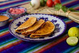 Tacos Orden 3 Piezas a la Plancha