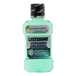 Enjuague Bucal Listerine Anticaries Zero Alcohol Menta 250 mL