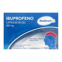 Ibuprofeno Medimart 400 Mg 10 Cápsulas En Gel