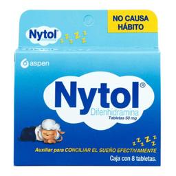 Nytol 50 Mg 8 Tabletas