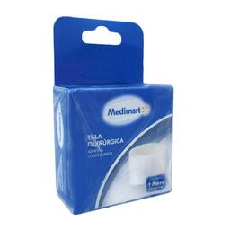 Tela Quirúrgica Medimart Adhesiva Color Blanco 1 U