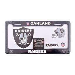 Porta Placas Nfl Oakland Raiders 2 U